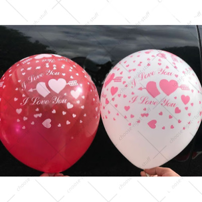I LOVE YOU BALLOONS HELIUM & AIR LATEX BALOONS Quality Birthday Wed Pannu Balons