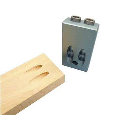Pocket Hole Drill Jig Joinery System Woodworking Tool Drilling Locator Guide