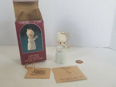 enesco precious moments christmas tree ornament 1990 once upon a holy night