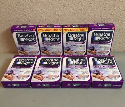 Breathe Right 220 ct Lavender Scented Nasal Strips Instant Relief Exp 06/20
