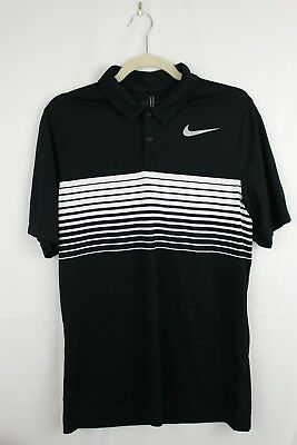 018f5eaf8975 NWT NIKE GOLF Mobility Speed Stripe DriFit Mens S Standard Fit Golf Polo  833099