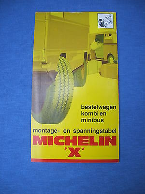 vintage 1970's dutch  michelin bibendum,europe  truck & van tire pressure guide