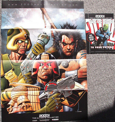 2000AD Ultimate Collection Welcome Poster: Judge Dredd, Strontium Dog, Slaine