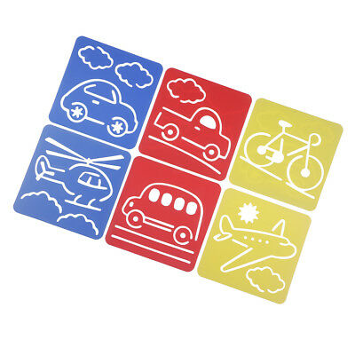 6 Patterns Painting Stencil Vehicle Template Creative Stencil 5.9x5.5inch