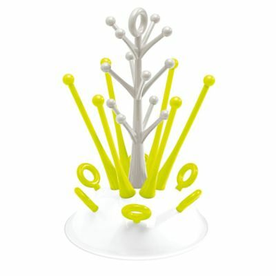 Beaba Baby Toddler Bottle Drying Rack Drainer Stand Storage Holder Neon 911615