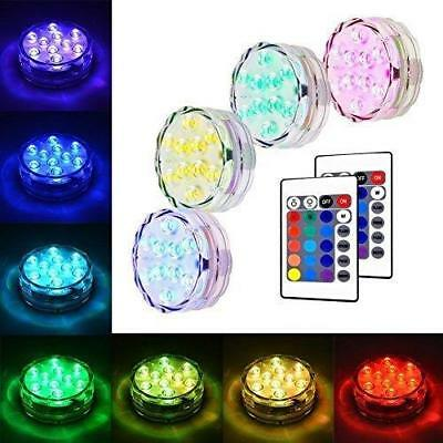 Litake Submersible LED Lights, RGB MultiColor Waterproof Remote Control Battery