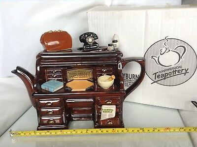 Teapottery Swineside Novelty Collectable Teapot James Herriot Desk Grt Condtion