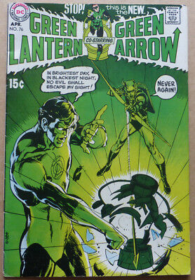 GREEN LANTERN #76, ORIGINAL KEY ISSUE with NEAL ADAMS COVER!!!