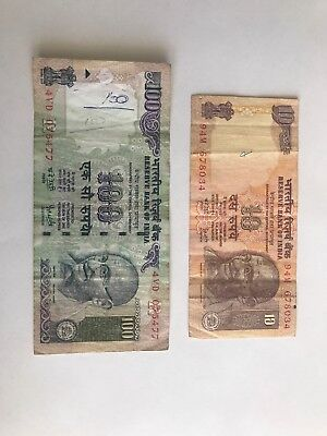 110 India Rupees Banknote