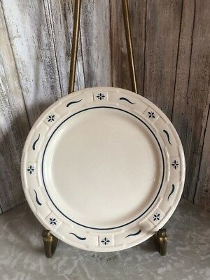 """Longaberger Woven Traditions Heritage Blue Salad/Bread Plate - 9"""""""