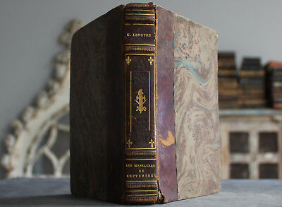 Rare Antique Book French Estate Memories Revolution & Empire September Massacre