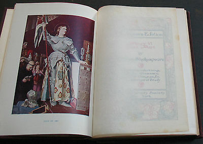 Rare Antique Collection of 6 Shakespeare Novels 1901 Art Nouveau Scarce