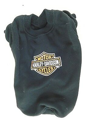 HARLEY DAVIDSON 2001 Dog Sweater, Black with H.D. Logo on the back. Size: Small