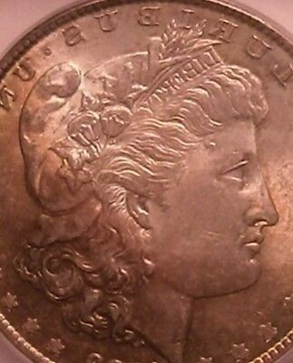 Stunning 1878-S Morgan Silver Dollar MS-62 Rare Toned Roll End Coin