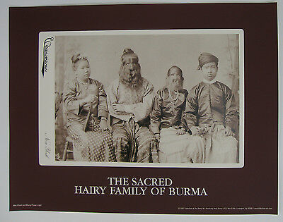 """The Sacred Hairy Family"" - Freak Show Poster - Charles Eisenmann Cabinet Card"
