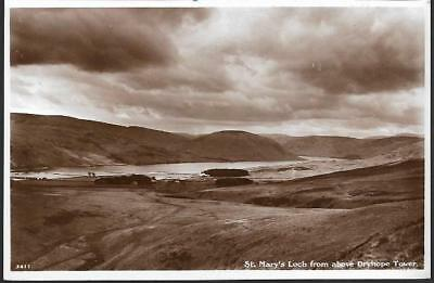 St. Mary's Loch, Scottish Borders from Dryhope Tower - postcard by AR Edwards
