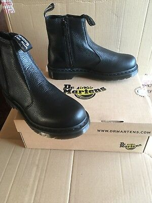 Dr Marten Aunt Sally Womens Chelsea Boots Dr Martens Bnib New Black Leather