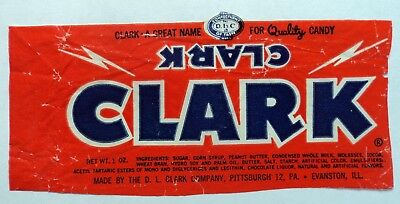Vintage 40's 50's Candy Wrapper - DLC Clark Bar - FREE SHIPPING!!!
