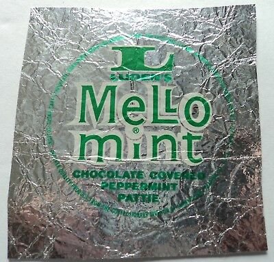 Vintage 40's 50's Foil Candy Wrapper - Luden's Mello Mint - FREE SHIPPING!!!
