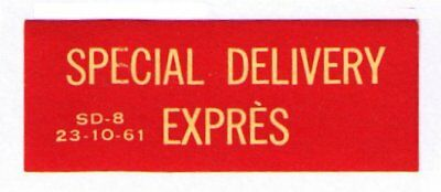 CANADA 1961 VERY SCARCE OLD SPECIAL DELIVERY /EXPRÈS LABEL CAT #cc9060.4f VF MNH