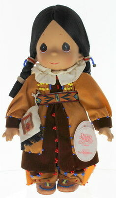 """Precious Moments Doll 12"""" Little Girl Native American Indian Autumn's Light"""