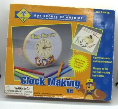 Cub Scouts Boy Scouts of America BSA CLOCK MAKING KIT for ages 8+ Unused in Box