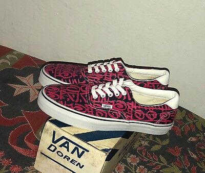 7ffb4450b5 VANS AUTHENTIC VAN Doren Era 59 Tribal Blue Pink White Size 8.5 New ...