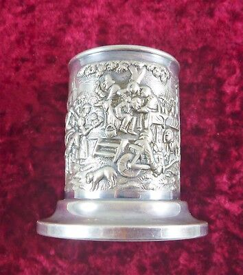 Fabulous Vintage Dutch 90 Ppt Silver Toothpick  Vase  Bottle Holder C 1930's