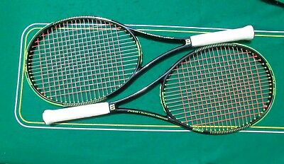 Pair of 2015 Wilson Blade 98 Parallel Drilling MP 16x19 Strung Rackets 1/4 EXCL