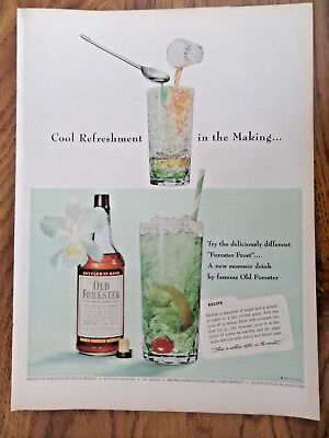 1955 Old Forester Whiskey Ad Try Forester Frost A New Summer Drink