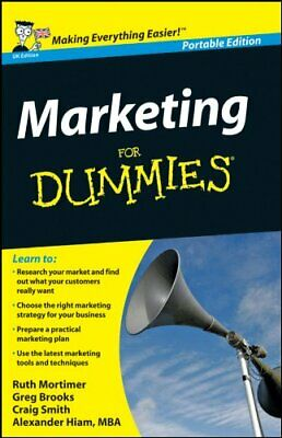 Marketing for Dummies: Uk Edition by Brooks, Gregory Book The Cheap Fast Free
