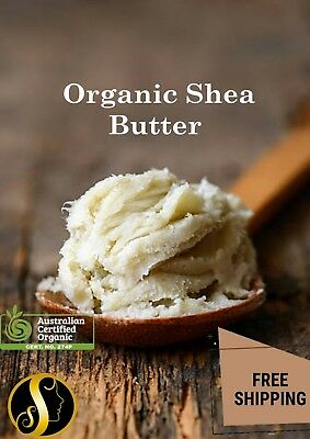 SHEA BUTTER Natural - Hair and Body Care, Soap, Lip Balm Moisturising Hand Cream
