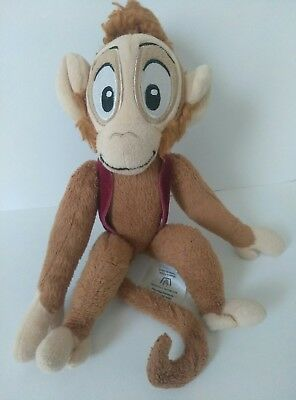 "Used  Disney Store 10"" Abu Monkey, Aladdin, Stuffed/Plush"
