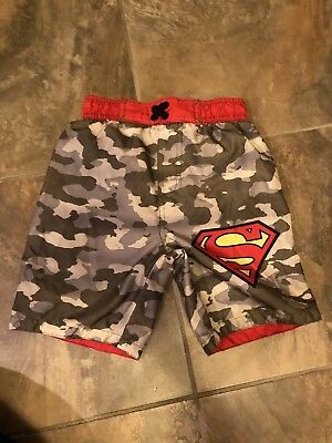 Superman Boys Swim trunks size 4 great condition