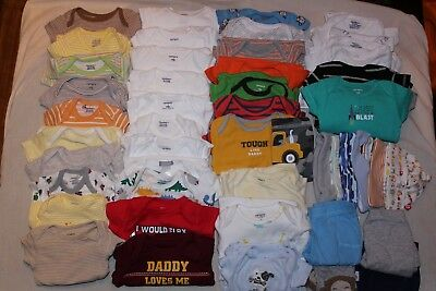 Baby Boy Clothes Lot Size Newborn 90+ Pieces Used New