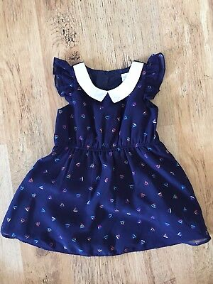Mini Club Gorgeous Dress 6-9 Months Baby Girl Boats Wedding Party christening