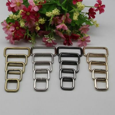Metal Strong Handbag Leather Bag Purse Strap Belt Web Rectangle O D Ring Buckle