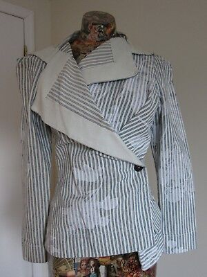 Vivienne Westwood Anglomania Cotton Striped Jacket 40