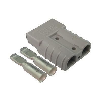 50 amp Anderson Plug (Single) + 2 Contacts Suitable for 6 B&S, 8 B&S