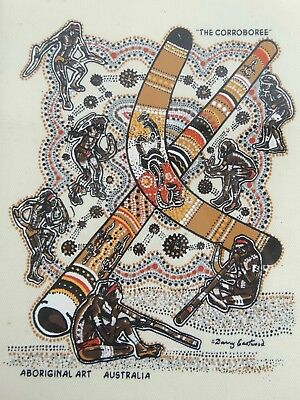 Aboriginal Silkscreen on Cloth By Danny Eastwood - The Corroboree