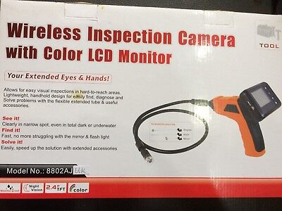 Wireless Inspection Camera with Color LCD Monitor Review - Endoscope Conduit