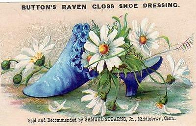 Middletown Connecticut*ct*stearns*button's Raven Gloss Shoe Dressing*lord Taylor