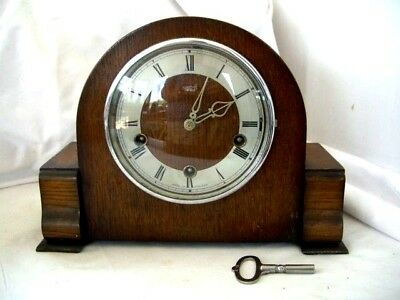 Vintage English 'Smiths-Enfield' 8-Day Mantel Clock with Westminster Chimes