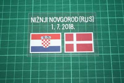CROATIA World Cup 2018 Away Shirt Match Details CROATIA Vs DENMARK