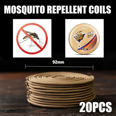 20x Mosquito Repellent Coil Anti Insect Pest Killer Repeller Home Camping Holder