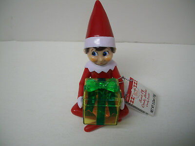 """ELF ON THE SHELF CANDYRIFIC 5"""" Gift Box SCOUT ELF Red+White CANDY HOLDER New!"""