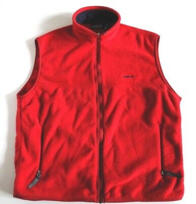 Patagonia Synchilla Fleece Full Zip Jacket Vest Red USA Made Men's XL Retro Ski