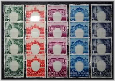 """#17 German Occup. in WW2 of Generalgouvernement 4x cpl. 105-109 """"Castles"""" unused"""