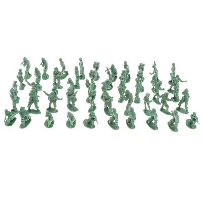 100PCS 2cm Army Green Army Men Soldiers Toy Battlefield Military Kit Playset
