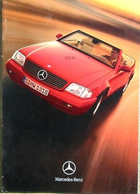 1999 Mercedes-Benz Der SL Class Model Dealer's Brochure/Catalog in German!